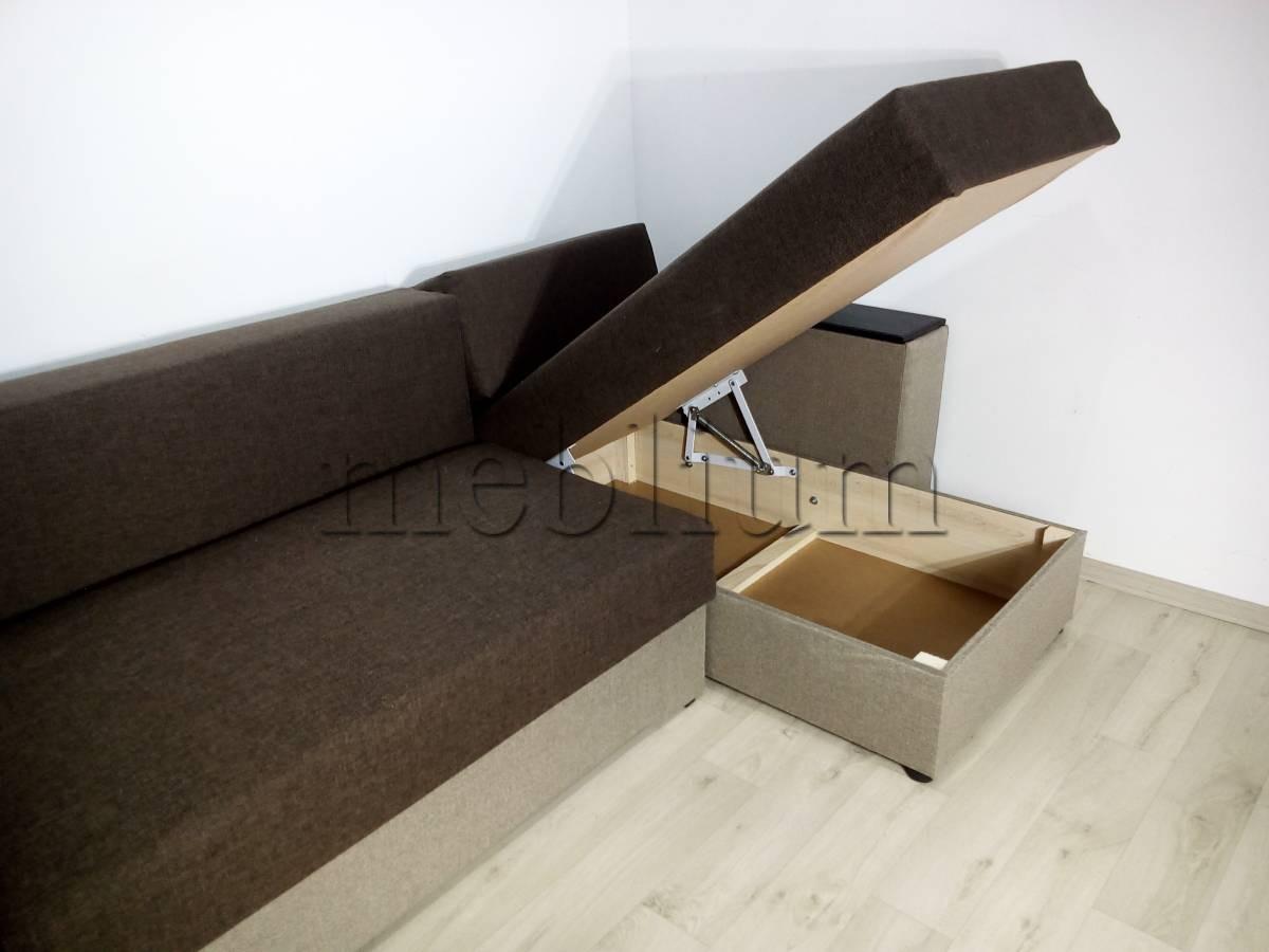 Угловой диван Византия универсал -3 Ниша для белья 1
