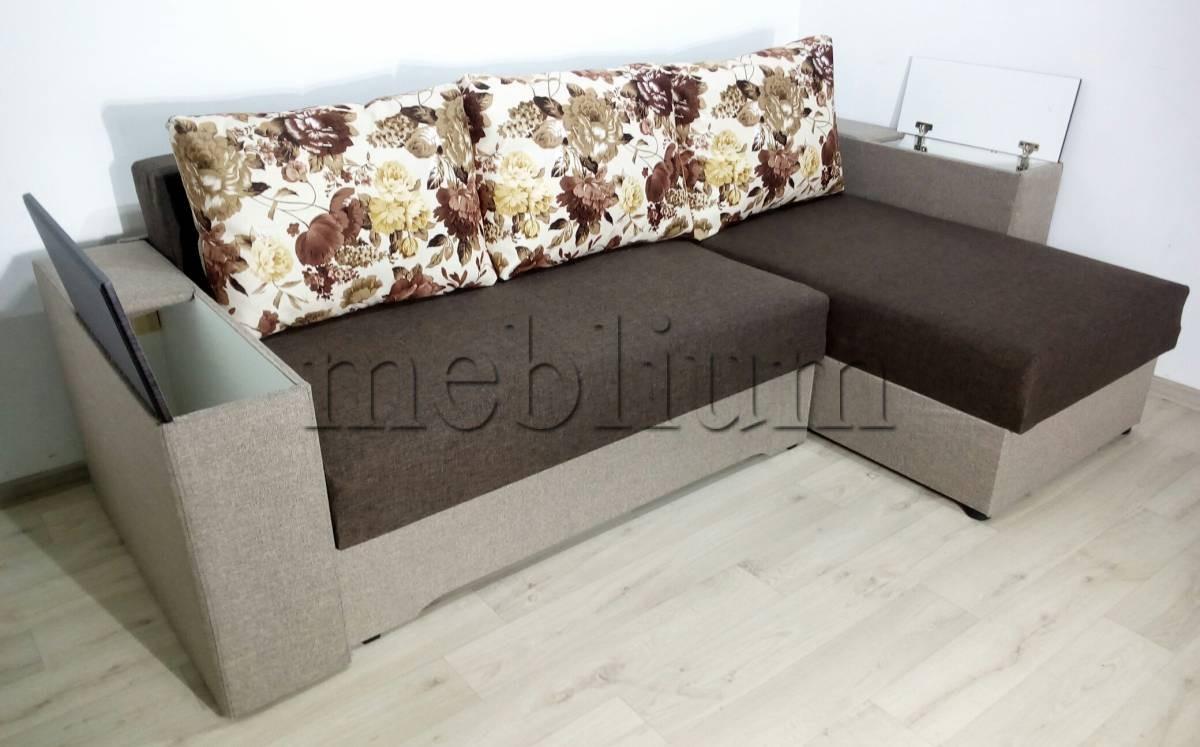 Угловой диван Византия универсал -3 Подлокотники-ниши