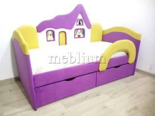 Детский диван Домік -41 Тканина: Sirenevo_Zheltyj