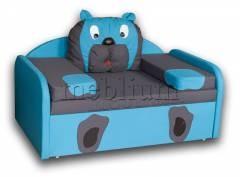 Детский диван МИШКА-14 ТАКЖЕ ЭТУ МОДЕЛЬ ЗАКАЗЫВАЛИ В ТКАНИ : основа - Нео графите, координат - Нео азуре