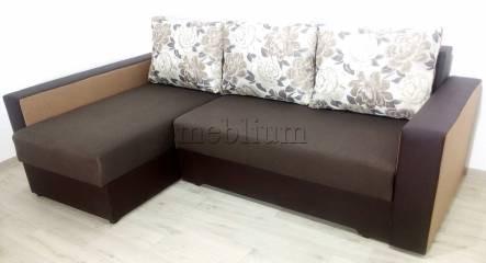 Кутовий диван Комфорт великі боки -3 Тканина: temno_korichnevyj_svetlo_korichnevyj