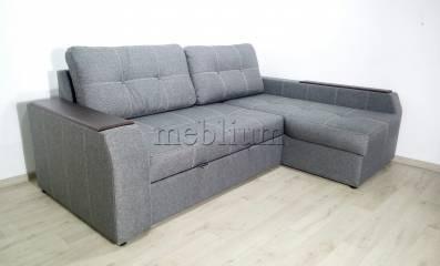 Угловой диван Лорето (+быльце ниша) -3 Ткань: Grey