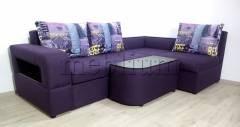Кутовий диван Голлівуд-76 Тканина: Violet_Music