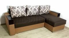 Угловой диван Магнолия универсал -3 Ткань: Korichnevo_Bezhevyj