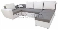 Кутовий диван Цезар-42 Korychnevo_belyj