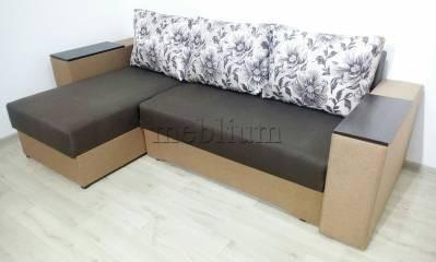 Угловой диван Визит универсал -3 Ткань: Korychnevyj_Behz