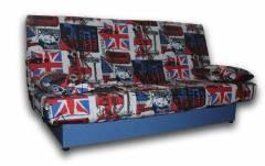 Ортопедический диван Джаз-86 Лонетта Англия, короб - синий Вариант обивки: весь диван - Лонетта Англия, короб - синий