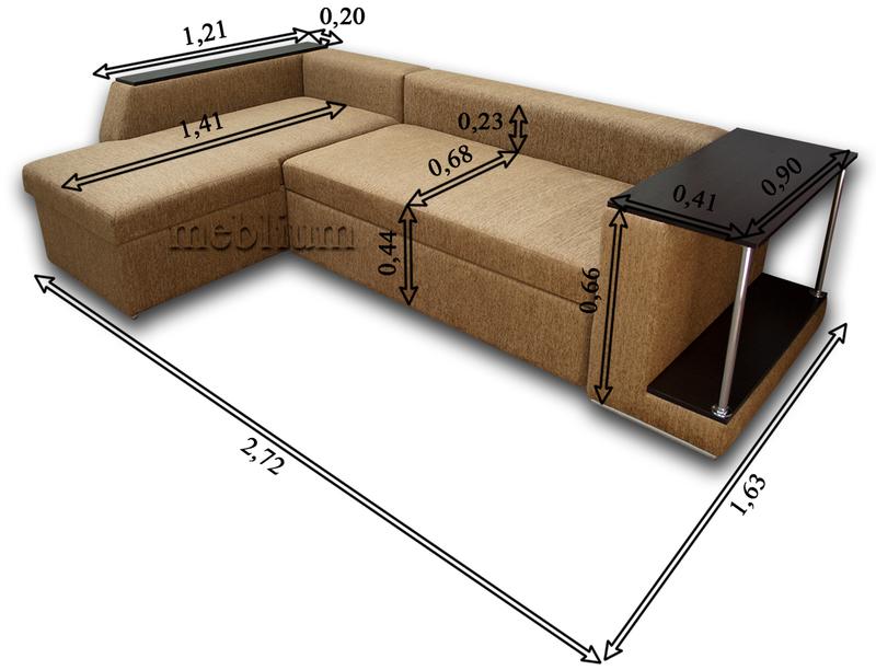 Угловой диван Лос-Анджелес New-10 Габаритные размеры