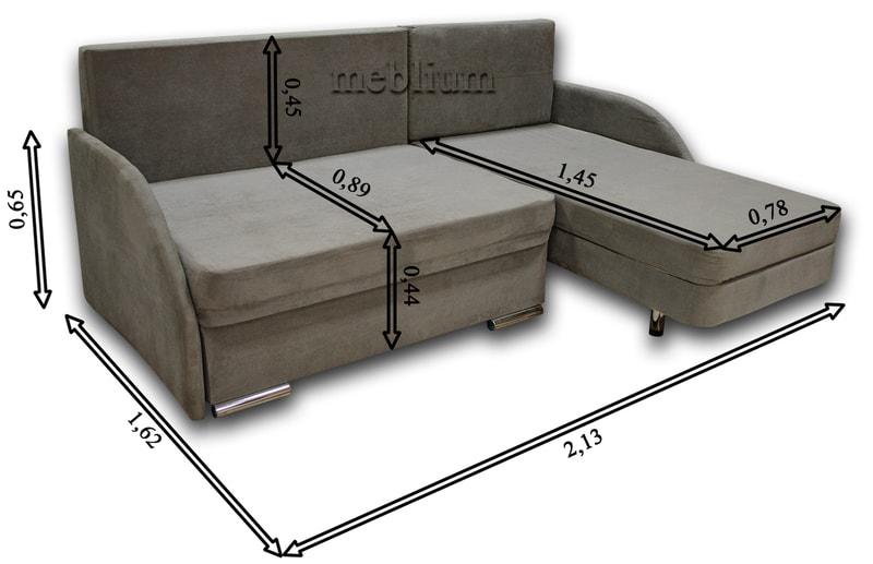 Угловой диван Майа 1.60 (нов) -42 Габаритные размеры