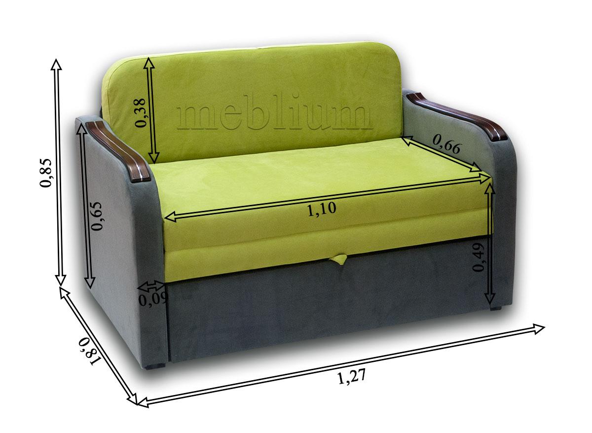 Диван Гном-Д 110-12 Габаритні розміри дивана: