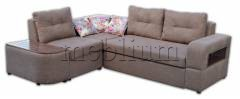 ПРОДАНО (можно под заказ) Угловой диван Голливуд-76 Саванна хезел Вариант обивки: Саванна хезел, подушки однотон
