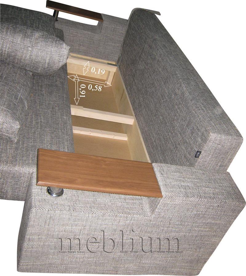 Диван Карат -3 Berlin_Kor_Behz Размеры ниши для белья: