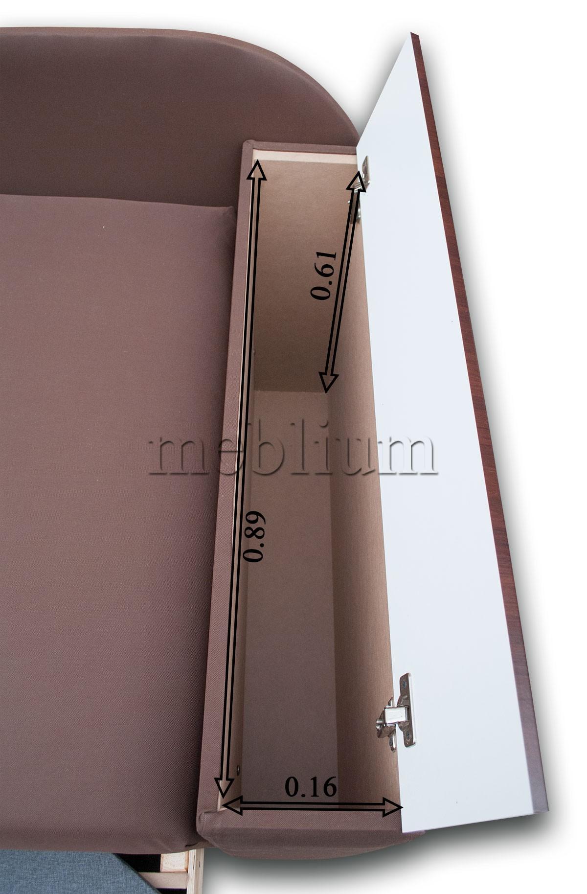 Диван Кент 160-89 Люкс Встроенная в быльце ниша