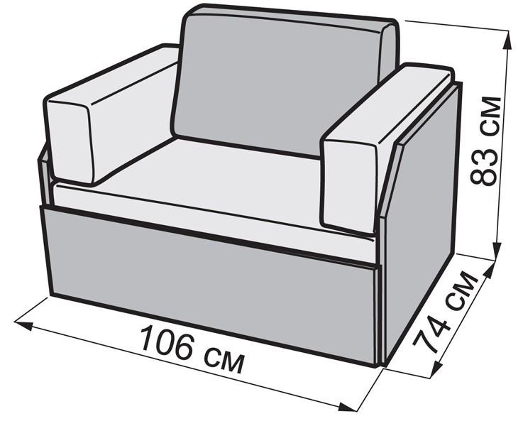 Диван Кубик боковий Котик-41