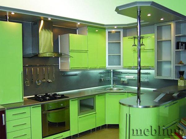 кухня meblium 15-72. Фасад пластик - от 5500 грн. за 1 м.п. Смотрите в каком исполнении у нас заказывают кухню meblium 15-72: