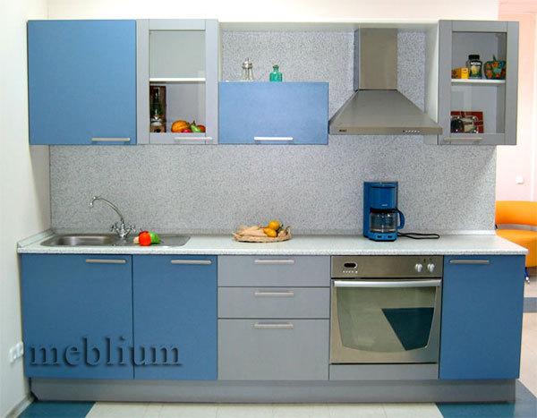 Кухня meblium 20-72. Фасад мдф пленка - от 4000 за 1 м.п. Смотрите, в каком исполнении заказывают у нас кухню meblium 20-72: