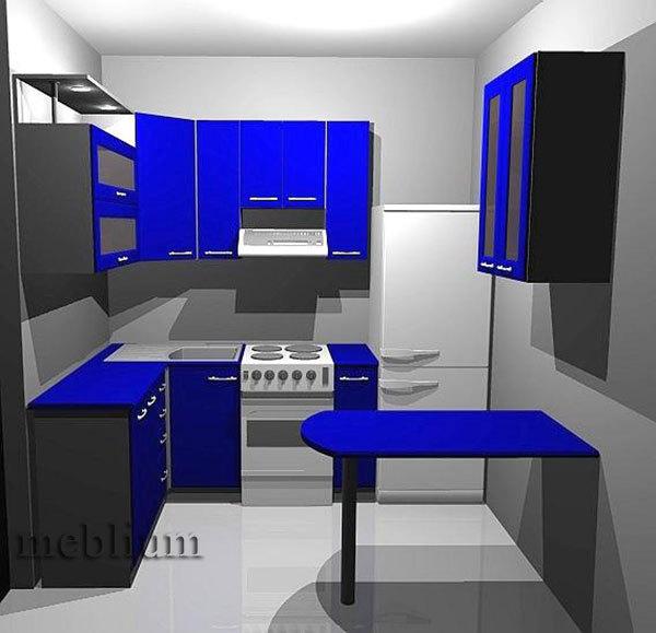Кухня meblium 20-72. Фасад мдф пленка - от 4000 за 1 м.п.