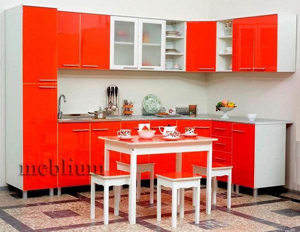Кухня meblium 19-72. Фасад мдф пленка - от 4000 за 1 м.п. Смотрите, в каком исполнении заказывают у нас кухню meblium 19-72: