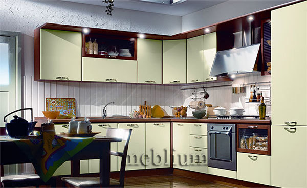 Кухня meblium 19-72. Фасад мдф пленка - от 4000 за 1 м.п.