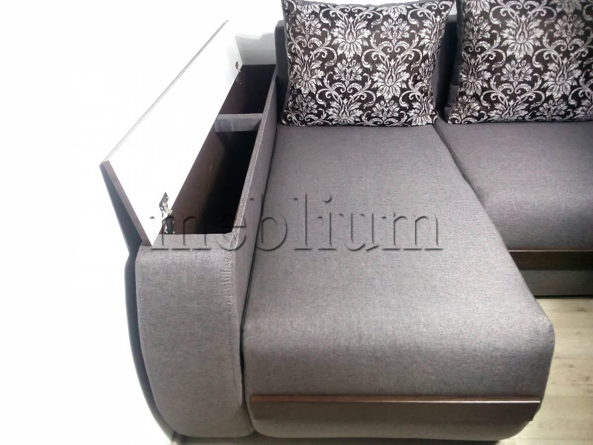 Угловой диван Токио (нишы+бар) -3 Боковая ниша