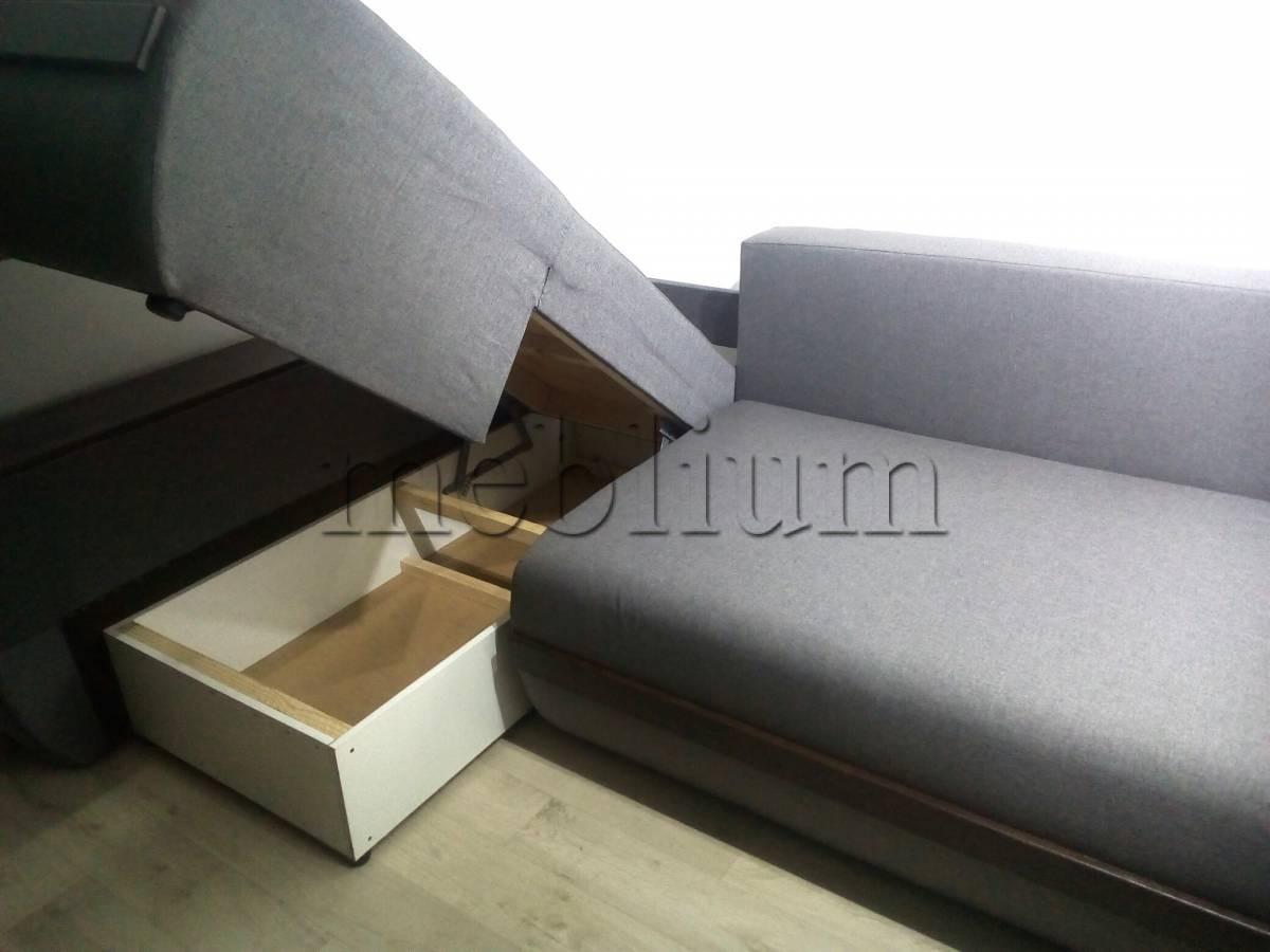 Угловой диван Токио (нишы+бар) -3 Ниша для белья 1