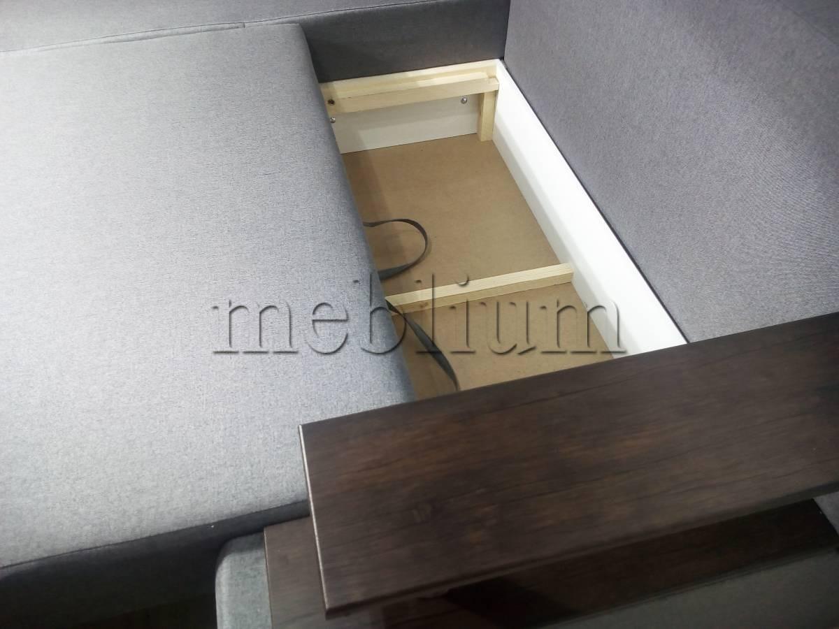 Угловой диван Токио (нишы+бар) -3 Ниша для белья 2