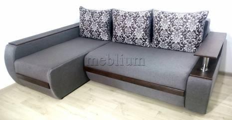 Угловой диван Токио (нишы+бар) -3 Ткань: Veles11_Estel