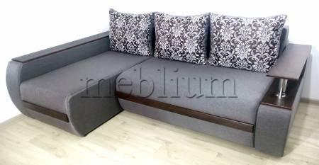 Угловой диван Токио (нишы+бар) -3