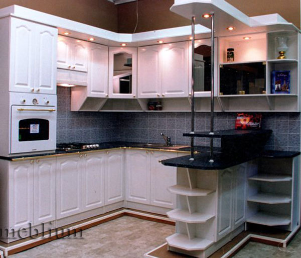 Кухня meblium 16-72. Фасад мдф пленка - от 4000 за 1 м.п.
