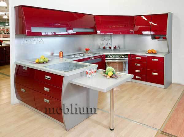 кухня meblium 72-72. Фасад пластик - от 5500 грн. за 1 м.п. Смотрите, в каком исполнении заказывают у нас кухню meblium 72-72