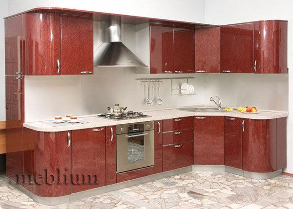 кухня meblium 17-72. Фасад пластик - от 5500 грн. за 1 м.п. Смотрите, в каком исполнении заказывают у нас кухню meblium 17-72: