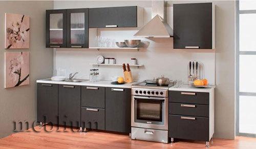 кухня meblium 2-72. Фасад пластик - от 5500 грн. за 1 м.п. Смотрите в каком исполнении у нас заказывают кухню  meblium 2-72: