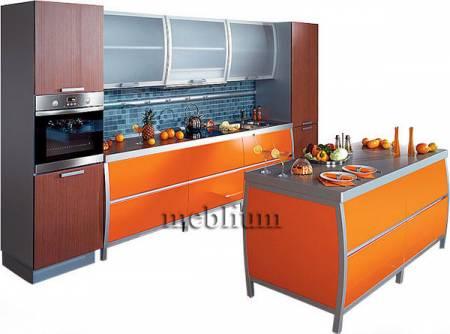 кухня meblium 7-72. Фасад пластик  с алюминевой рамкой:- от 5800 грн. за 1 м.п.