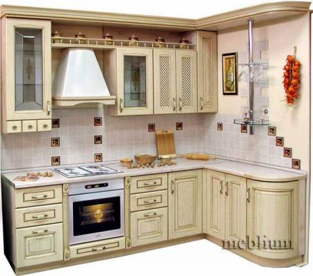 Кухня meblium 61-72. Фасад мдф крашенный - от 5500 за 1 м.п.
