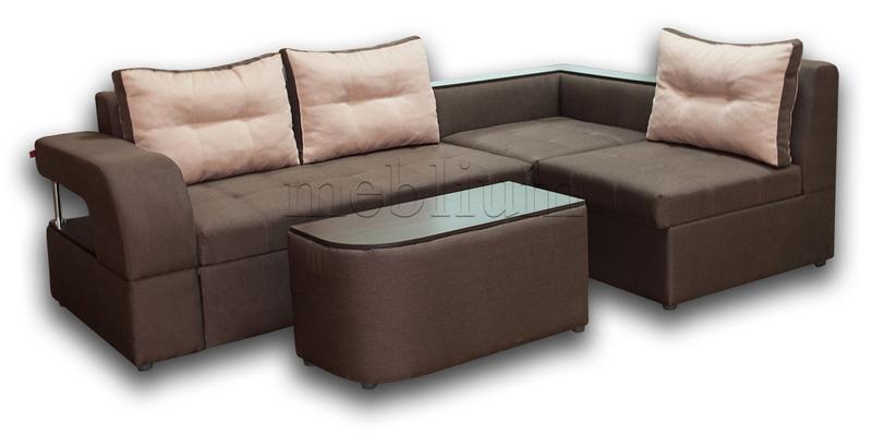 Угловой диван Голливуд -76 ТАКЖЕ ЭТУ МОДЕЛЬ ЗАКАЗЫВАЛИ В ТКАНИ : весь диван -Тетра Битер