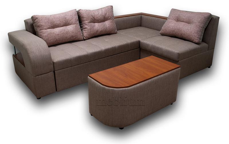 Угловой диван Голливуд -76 ТАКЖЕ ЭТУ МОДЕЛЬ ЗАКАЗЫВАЛИ В ТКАНИ : диван - лугано браун, подушки - лугано ред (EximTextill).