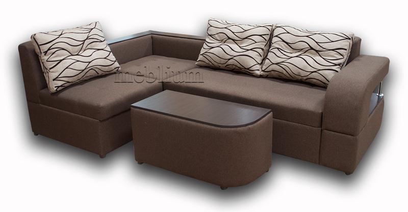 Угловой диван Голливуд -76 ТАКЖЕ ЭТУ МОДЕЛЬ ЗАКАЗЫВАЛИ В ТКАНИ : весь диван - Люминс 1036,подушки - Люминс флок 75