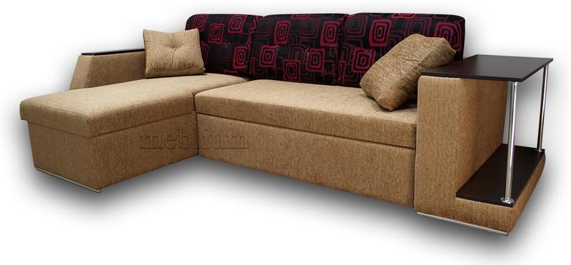 Угловой диван Лос-Анджелес New-10 ТАКЖЕ ЭТУ МОДЕЛЬ ЗАКАЗЫВАЛИ В ТКАНИ :  диван - тетрис комбин голд, подушки - лада ред.