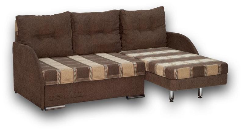 Угловой диван Майа 1.60 (нов) -42 ТАКЖЕ ЭТУ МОДЕЛЬ ЗАКАЗИВАЛИ В ТКАНИ: основа- мега 001 A brown, координат - мега 001 В brown (EximTextill).