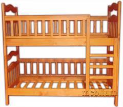 Двух'ярусне ліжко-трансформер Мальвіна-46