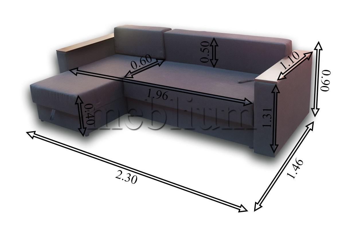 Угловой диван Мастер-89 Габаритный размеры дивана: