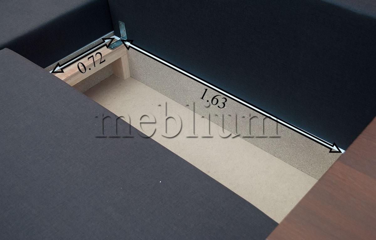Угловой диван Мастер-89 Размеры ниши для белья: