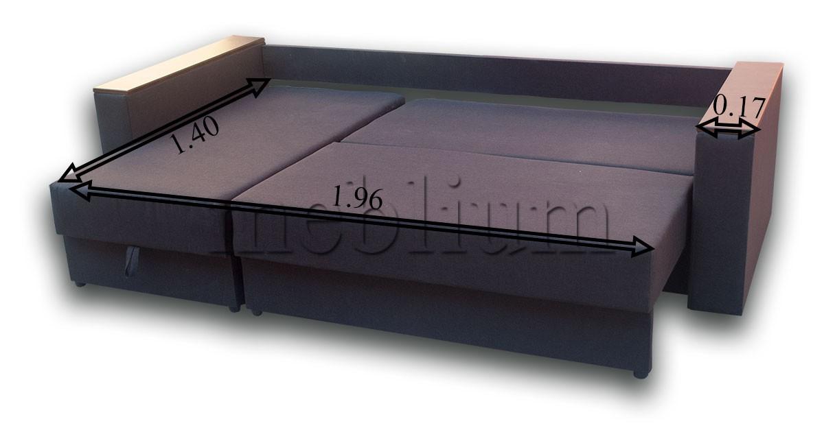 Угловой диван Мастер-89 Размеры спального места: