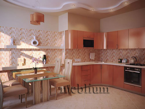 кухня meblium 17-72. Фасад пластик - от 5500 грн. за 1 м.п.