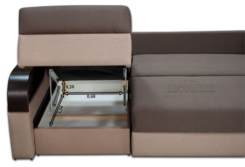 Угловой диван Лана -47 Ниша для белья