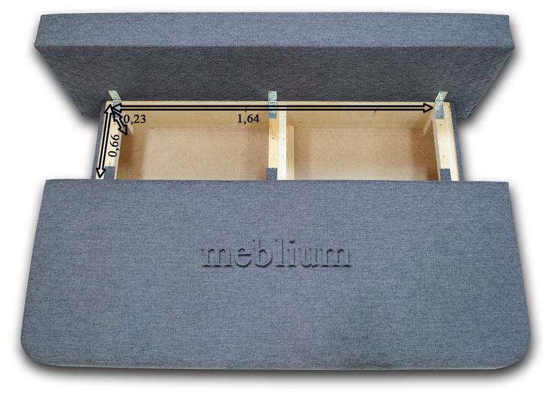 Диван Meblium 28-3 сакура Розміри ніши для білизни:
