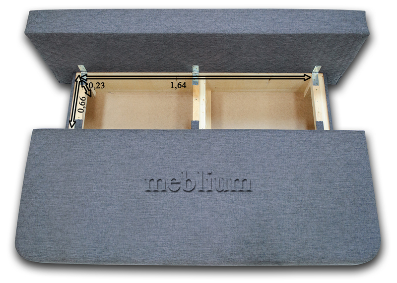 Диван Meblium 28-3 корсар Размеры ниши для белья: