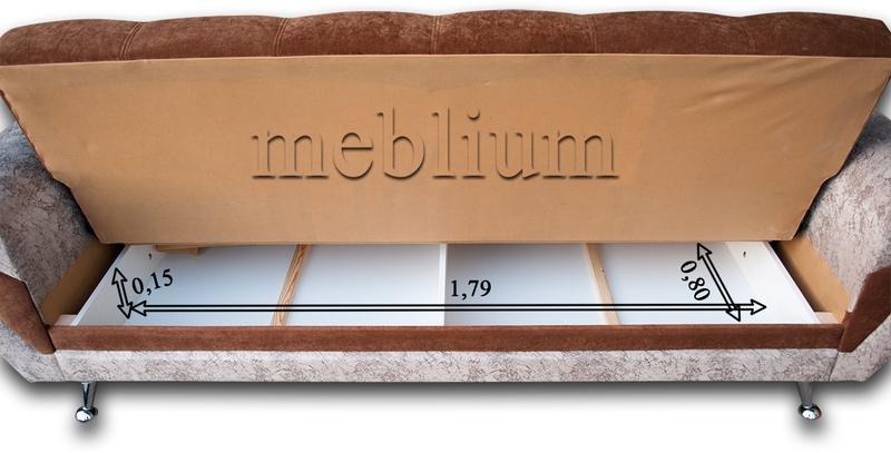 Диван Гламур -15 Размеры ниши для белья: