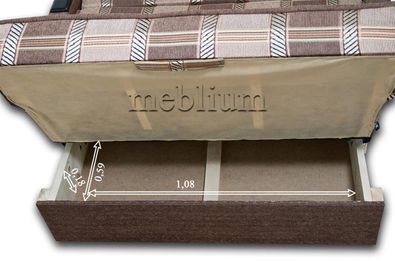 Диван Meblium 3-3 осень Размеры ниши для белья: