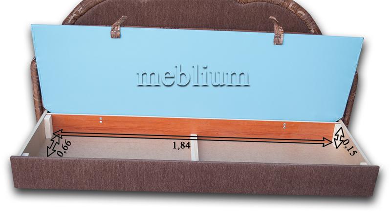 Диван Meblium 129-1 люкс венус Размеры ниши для белья: